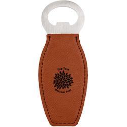 Mums Flower Leatherette Bottle Opener (Personalized)