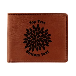 Mums Flower Leatherette Bifold Wallet (Personalized)