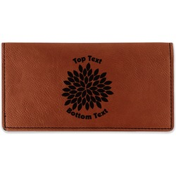 Mums Flower Leatherette Checkbook Holder (Personalized)