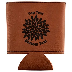 Mums Flower Leatherette Can Sleeve (Personalized)