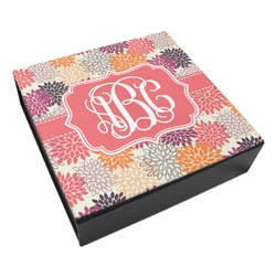 Mums Flower Leatherette Keepsake Box - 3 Sizes (Personalized)