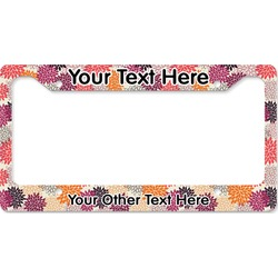 Mums Flower License Plate Frame (Personalized)