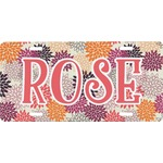 Mums Flower Front License Plate (Personalized)