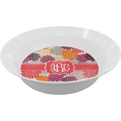 Mums Flower Melamine Bowl (Personalized)