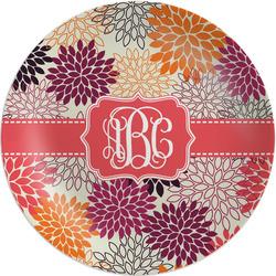 "Mums Flower 8"" Melamine Appetizer / Dessert Plate (Personalized)"