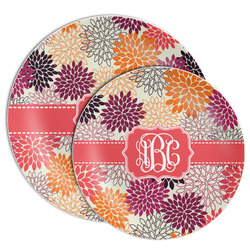 Mums Flower Melamine Plate (Personalized)