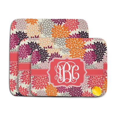 Mums Flower Memory Foam Bath Mat (Personalized)