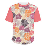 Mums Flower Men's Crew T-Shirt (Personalized)