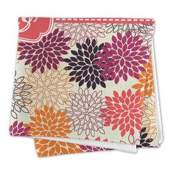 Mums Flower Large Microfiber Dish Rag (Personalized)