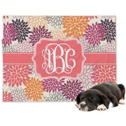 Mums Flower Minky Dog Blanket (Personalized)