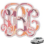 Mums Flower Monogram Car Decal (Personalized)