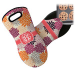 Mums Flower Neoprene Oven Mitt (Personalized)