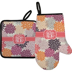 Mums Flower Oven Mitt & Pot Holder (Personalized)