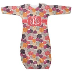 Mums Flower Newborn Gown - 3-6 (Personalized)