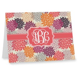Mums Flower Note cards (Personalized)