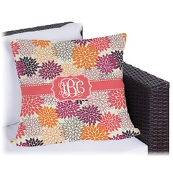 """Mums Flower Outdoor Pillow - 18"""" (Personalized)"""