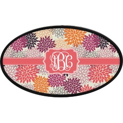 Mums Flower Oval Trailer Hitch Cover (Personalized)