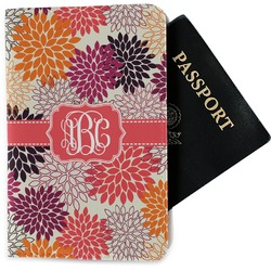 Mums Flower Passport Holder - Fabric (Personalized)
