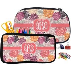 Mums Flower Pencil / School Supplies Bag (Personalized)