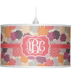 Mums Flower Drum Pendant Lamp (Personalized)