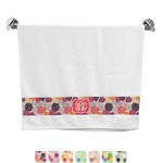 Mums Flower Bath Towel (Personalized)