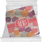 Mums Flower Minky Blanket (Personalized)