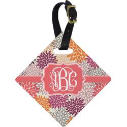 Mums Flower Diamond Luggage Tag (Personalized)