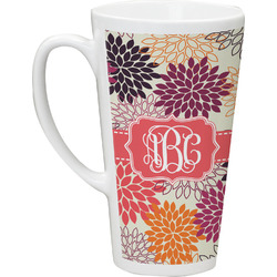 Mums Flower Latte Mug (Personalized)