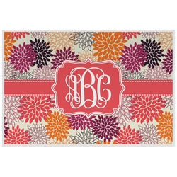 Mums Flower Laminated Placemat w/ Monogram
