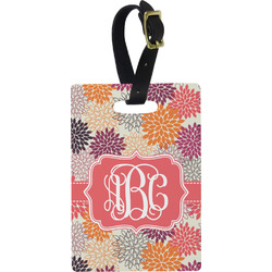 Mums Flower Rectangular Luggage Tag (Personalized)