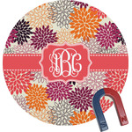 Mums Flower Round Magnet (Personalized)