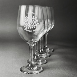 Mums Flower Wineglasses (Set of 4) (Personalized)