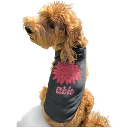 Mums Flower Black Pet Shirt - S (Personalized)