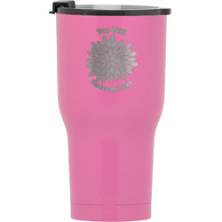 Mums Flower RTIC Tumbler - Pink (Personalized)