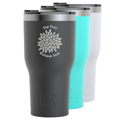 Mums Flower RTIC Tumbler - 30 oz (Personalized)