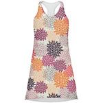Mums Flower Racerback Dress (Personalized)
