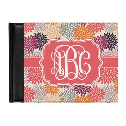 Mums Flower Genuine Leather Guest Book (Personalized)