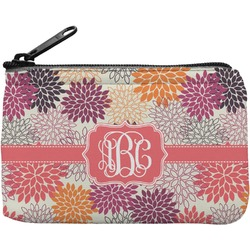 Mums Flower Rectangular Coin Purse (Personalized)