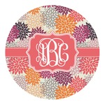 Mums Flower Round Decal (Personalized)