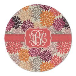 Mums Flower Round Linen Placemat (Personalized)