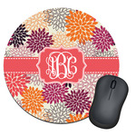 Mums Flower Round Mouse Pad (Personalized)