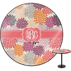 Mums Flower Round Table (Personalized)