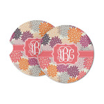 Mums Flower Sandstone Car Coasters (Personalized)