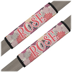 Mums Flower Seat Belt Covers (Set of 2) (Personalized)
