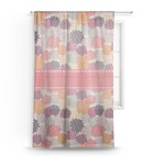 Mums Flower Sheer Curtains (Personalized)