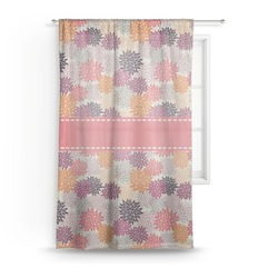 "Mums Flower Sheer Curtain - 50""x84"" (Personalized)"