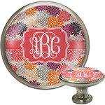 Mums Flower Cabinet Knob (Silver) (Personalized)