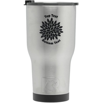 Mums Flower RTIC Tumbler - Silver (Personalized)