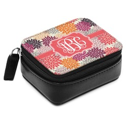 Mums Flower Small Leatherette Travel Pill Case (Personalized)