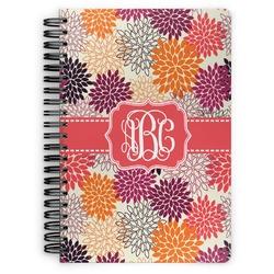 Mums Flower Spiral Bound Notebook (Personalized)